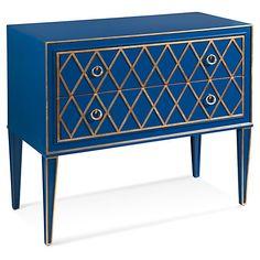 Emilia Gilded Dresser, Blue $629.00