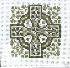 Claddagh Cross Stitch Shamrock Celtic Cross Pattern #CladdaghCrossStitchCompany