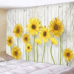 JOOCAR Wooden Board Sunflower Print Decorative Throw Fabric Wall Tapestry Hanging Art Decor for Living Room and Bedro. Sunflower Room, Sunflower Wall Decor, Sunflower Print, Hanging Art, Tapestry Wall Hanging, Tapestry Ceiling, Reproductions Murales, Cheap Wall Tapestries, Home Decor Ideas