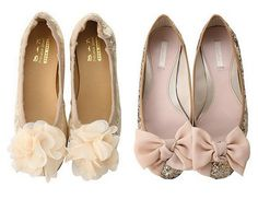 Nude and sparkly flats !