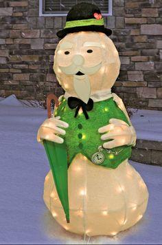 CHRISTMAS SANTA RUDOLPH REINDEER SAM SNOWMAN TINSEL YARD DECORATION 3 FT