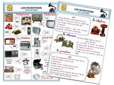 Les inventions au fil du temps - A la grande école Teaching French, Les Inventions, Cycle 3, High School French, School Organisation, French Classroom, New Class, Learn French, Socialism