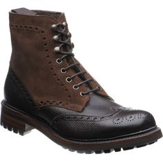 Cheaney shoes | Cheaney Country | Irvine two-tone boot in Walnut Plough at Herring Shoes