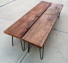 Rustic Modern Wood Bench by Tyler Kingston Wood Co. - modern - benches - Etsy