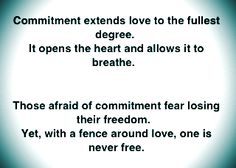 Commitment and Love