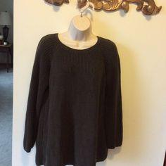 525 America oversized with split back Beautiful dark brown oversized sweater.   Overlap panel in back.   Very nice condition. 525 America Sweaters Crew & Scoop Necks