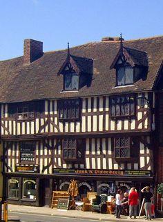 Medieval town of Shrewsbury, Shropshire British Architecture, Architecture Details, Amazing Architecture, Interesting Buildings, Beautiful Buildings, England And Scotland, England Uk, Shrewsbury England, Shrewsbury Shropshire