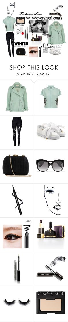 """""""Untitled #53"""" by gurleenkaur02 on Polyvore featuring River Island, Jaeger, Puma, Serpui, Alexander McQueen, Black Magic Lashes, Tom Ford, Bobbi Brown Cosmetics and NARS Cosmetics"""