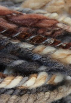 Hand spin and naturally dyed.