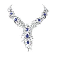 Van Cleef & Arpels collection Le Palais de la Chance  collier Sept Etoiles platin, diamant and saphirs - 33.73 carats