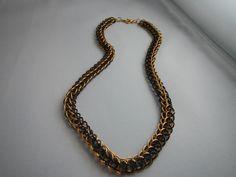 Gold/Schwarz Chainmaille