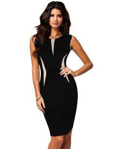 Mujeres refrescan bellas damas Formal partido lápiz vestido del negocio del vestido Uk 6 18 Vestidos más del tamaño 2014 del cordón del vestido de Clubwear Vestidos en Vestidos de Moda y Complementos Mujer en AliExpress.com | Alibaba Group