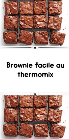 Brownie Recipes, Dessert Recipes, Fondant, Dessert Thermomix, Nutella, Blondie Brownies, Chocolate, Biscuits, Easy