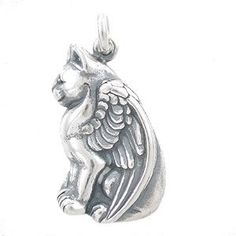 Amazon.com: Detailed Winged Pegasus Cat Pendant in Sterling Silver, #7925: Taos Trading Jewelry: Jewelry