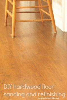 great information about restoring hardwood floors and when and when NOT to use a square buff sander from thespacebetweenblog.net