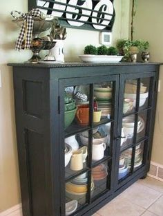 old door for sides, old windows for front doors (source unknown) - Amazing Diy Decor Furniture Projects, Furniture Makeover, Home Projects, Diy Furniture, Furniture Refinishing, Barbie Furniture, Rustic Furniture, Furniture Design, Antique Windows