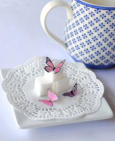 Itsy bitsy mini edible butterflies