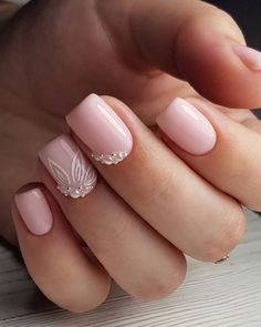 30 Perfect Pink And White Nails For Brides ❤ #weddingforward #wedding #bride #pinkandwhitenails #bridalnails Wedding Nails For Bride, Bride Nails, Prom Nails, Wedding Hair And Makeup, White Nail Designs, Simple Nail Designs, Nail Art Designs, Sophisticated Nails, Chanel Makeup