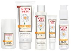16 New Drugstore Skincare Products That Really Work *Burt's Bees latest collection of brightening facial care  products *includes a cleanser, dark spot corrector, moisturizer, eye treatment & tonic