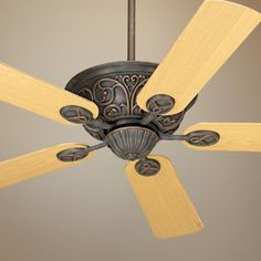 "52"" Casa Contessa™ Bronze Light Oak Blades Ceiling Fan"
