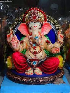 Jaya Ganesha! Shri Ganesh Images, Ganesha Pictures, Ganesh Lord, Sri Ganesh, Lord Krishna, Lord Shiva, Ganesh Idol, Ganesha Art, Ganpati Bappa Wallpapers