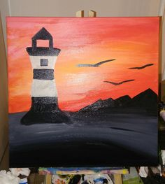 Lighhouse oil painting
