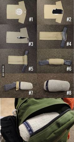 Make a travel pillow and change of clothes in one item. I wrapped big fluffy socks over mine for the plane and used a tee shirt, yoga pant, and headwrap so I would have a change of clothes with me in case luggage gets lost.