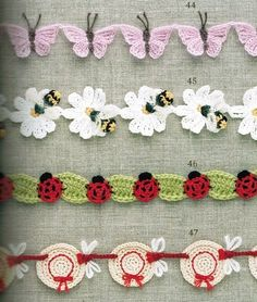 Free crochet diagrams for garlands