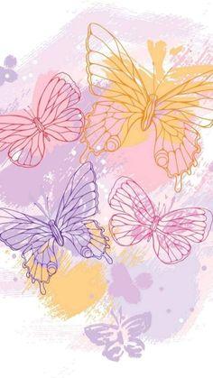 Colorfull Wallpaper, Floral Wallpaper Phone, Pink Wallpaper Girly, Cute Wallpaper For Phone, Cute Patterns Wallpaper, Iphone Background Wallpaper, Butterfly Wallpaper, Cellphone Wallpaper, Aesthetic Iphone Wallpaper