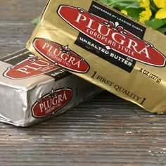 Plugra European Style Unsalted Butter, 8 oz (for spreading and flaky pastry)