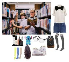 """Nerd Photo Shoot with Kian and Jc"" by lifeasgege ❤ liked on Polyvore featuring rag & bone, Smashbox, Cheap Monday, Disney, Charlotte Russe, Converse and Splendid"