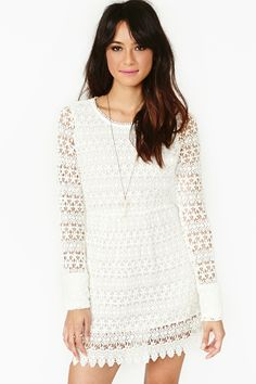 Vintage-inspired white crochet 100% #cotton dress. #mod #style #inspiration