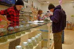 In 2 States, Corner Cannabis Store Nears Reality - DENVER — Starting early next year, any adult with a craving or curiosity will be able to stroll into a strip mall or downtown shop in Colorado or Washington State and do what has long been forbidden: buy a zip-lock bag of legal marijuana.
