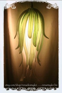 Large/Long Green Paper Flower Luminaire by Renae by renaeleataylor, $185.00
