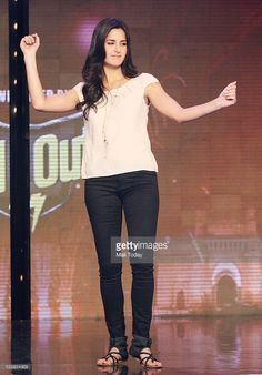 Katrina Kaif on the sets of reality show India's Got Talent.