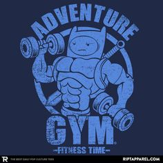 ADVENTURE GYM T-Shirt - Adventure Time T-Shirt is $11 today at Ript!