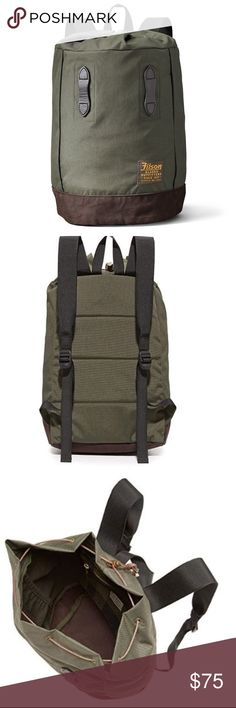 b5fae8f04b6a56 FILSON Nylon Day Pack Backpack in Otter Green New A classic Filson backpack  with a contrast