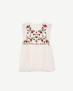 Image 8 of EMBROIDERED TOP from Zara