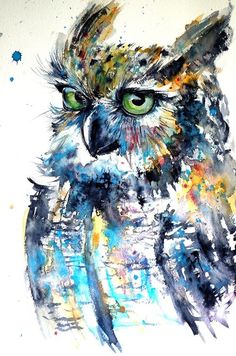 Buy Cute owl, Watercolour by Kovács Anna Brigitta on Artfinder. Discover thousands of other original paintings, prints, sculptures and photography from independent artists.
