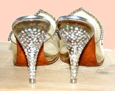 great rhinestone heel shoes from 50's