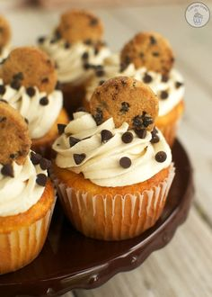 Chocolate Chip Cookie Dough Cupcakes | 14 Cookie Dough Desserts You Won't Want to Share - hercampus.com