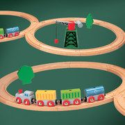 Beautiful European wood train sets: NUCHI event 40% off on #zulily today!