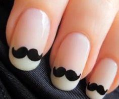 Moustache French mani!