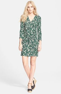 Tory Burch 'Michele' Print Ruched Dress available at #Nordstrom