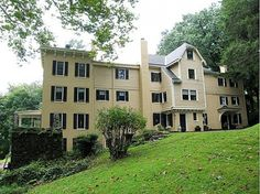 Grounds of historic Wissahickon Creek, former home of Edgar Allen Poe Celebrity Mansions, Celebrity Houses, Edgar Allen Poe, Edgar Allan, Different House Styles, Hollywood Homes, Rich Home, Interesting Buildings, Famous Places