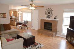 Fireplace at 10324 Manz Manzanillo Avenue in  Albuquerque, New Mexico Home For Sale