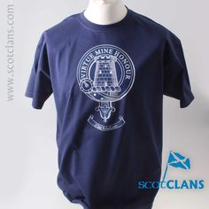MacLean Outline Clan Crest T Shirt. Free worldwide shipping available.. Free worldwide shipping available