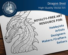 Dragon Clipart - Perfect for Crafts or a Personal Tattoo! Now available for download in my shop