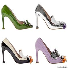 Miu Miu - Metal Flower Embellished Pumps - Different Colours - Fall / Winter - 2010