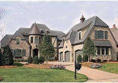 French Country Manor - 17691LV   European, French Country, Luxury, Photo Gallery, 1st Floor Master Suite, Bonus Room, Butler Walk-in Pantry, CAD Available, Den-Office-Library-Study, Loft, MBR Sitting Area, PDF, Corner Lot   Architectural Designs